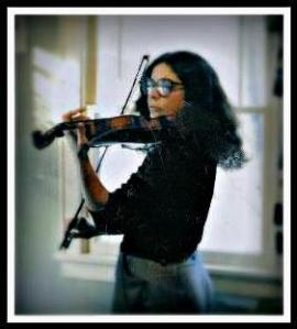 karen in late 80s with violin